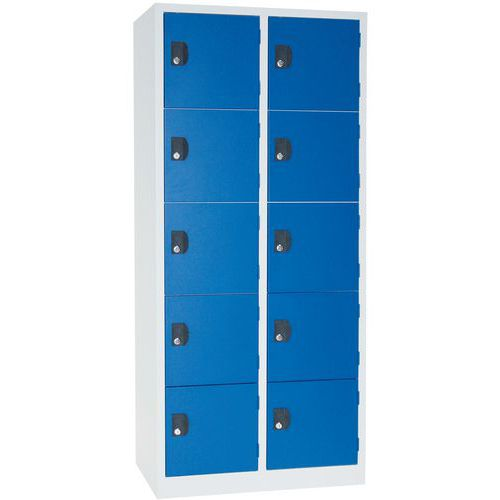Pienlokerokaappi Manutan Modulo 300 1 x 4 lokero sininen