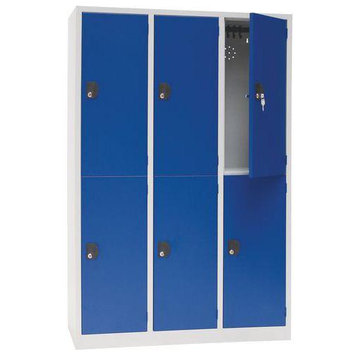 Pienlokerokaappi Manutan Modulo 400 3 x 2 lokero sininen