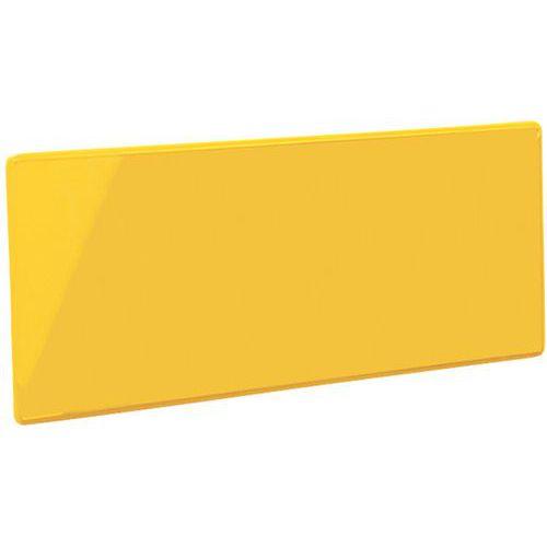 Itsekiinnittyvä nimilappupidin Manutan keltainen
