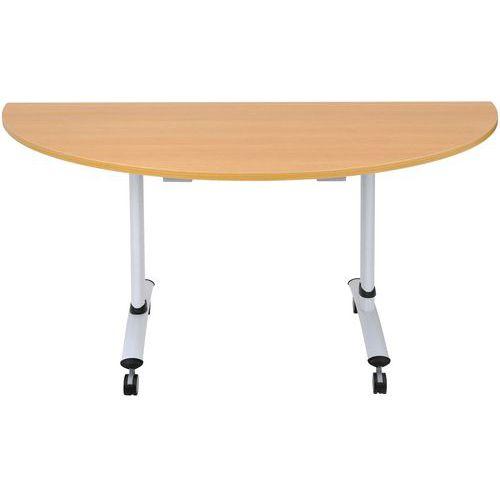Juhlapaketti, 1 kokoontaitettava pöytä PRO (242cm) + 8 tuolit, Vaalean harmaa/Valkoinen