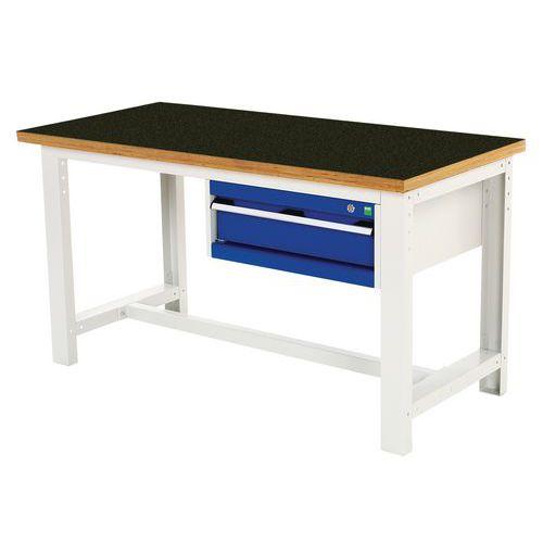 Työpöytä Bott 150 cm fenoli 1 laatikko
