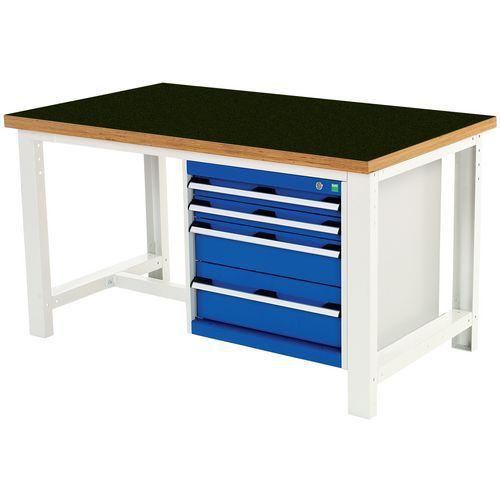 Työpöytä Bott 150 cm fenoli 4 laatikkoa
