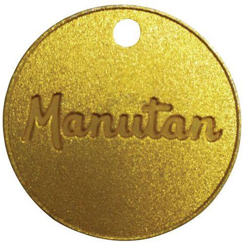 Numeroidut poletit 001 - 100, messinki Manutan