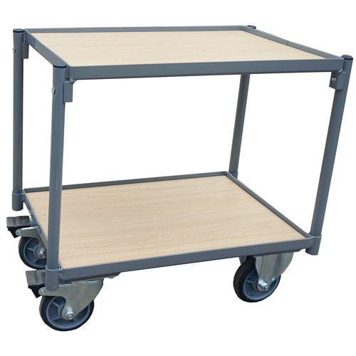 Pöytävaunu puuta 2 tasoa ilman kädensijaa - 250 kg - Manutan
