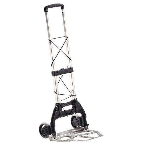 Taittuva alumiininen nokkakärry – puhkeamattomat pyörät – kantokyky 50–125kg