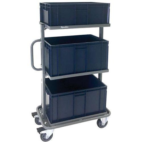 Vaunu, jossa on 3 laatikkoa - kapasiteetti 200 kg - Manutan