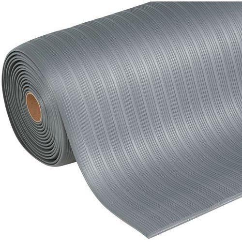 Tapis antifatigue ergonomique - Surface striée- Le mètre linéaire - Manutan