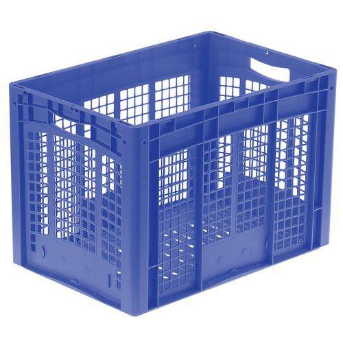 Muovilaatikko sininen perforoitu
