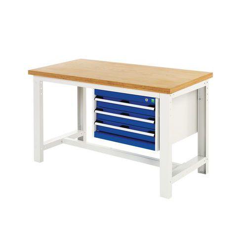 Työpöytä Bott 150 cm vaneri 3 laatikkoa