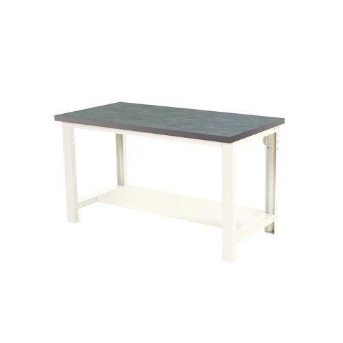 Työpöytä Bott 150 cm linoleumi alahylly