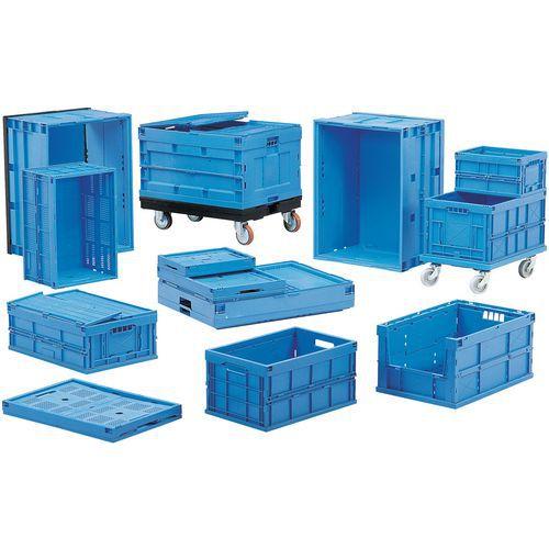 Muovilaatikko kokoontaittuva sininen