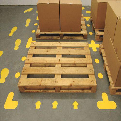 Lavapaikan merkintätarra lattiaan