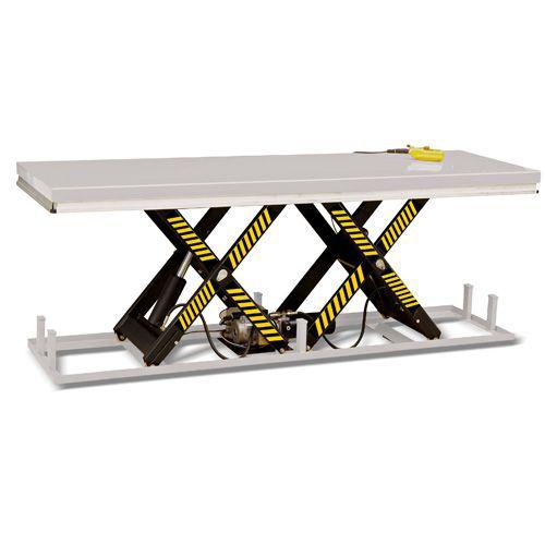 Kaksisaksiset nostopöydät kokolevyllä