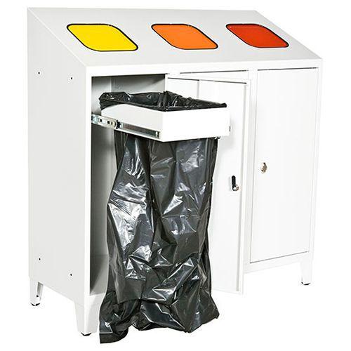 3-osaa jätteidenlajittelukaappi