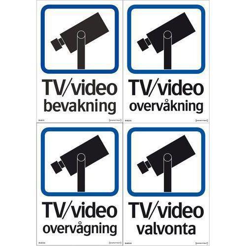 Kilpi - TV/video valvonta, kaksipuolisen