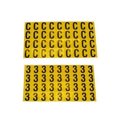 Itsekiinnittyvät kirjaimet ja luvut, 14 x 19 mm