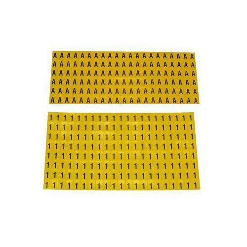 Itsekiinnittyvät kirjaimet ja luvut, 6 x 9,5 mm