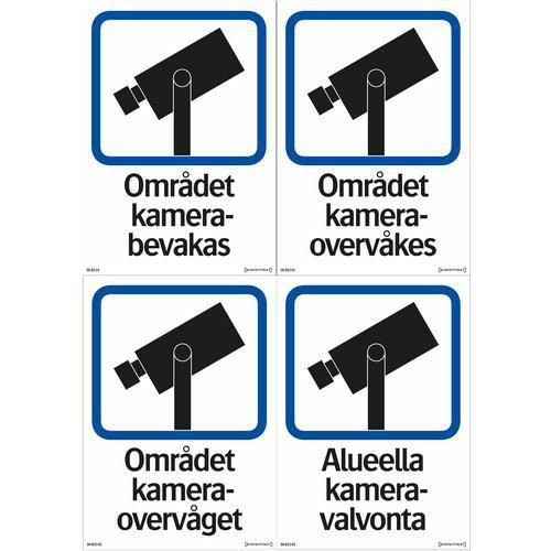 Kilpi - Aluella kamera-valvonta