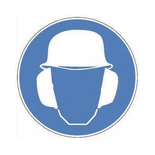 Määräyskilvet - Käytä suojakypärää ja kuulosuojaimia
