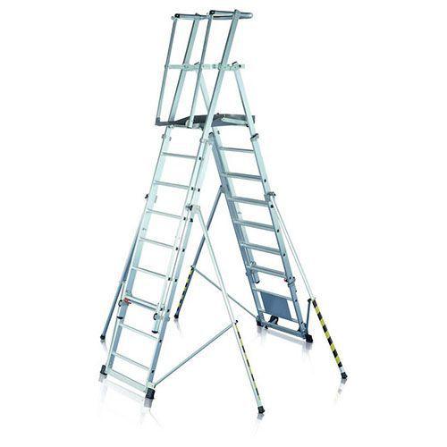 Siirrettävät tikkaat seisontatasolla Zarges ZAP
